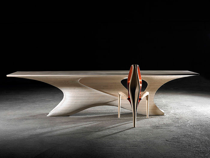 Futuristic furniture design in Ireland