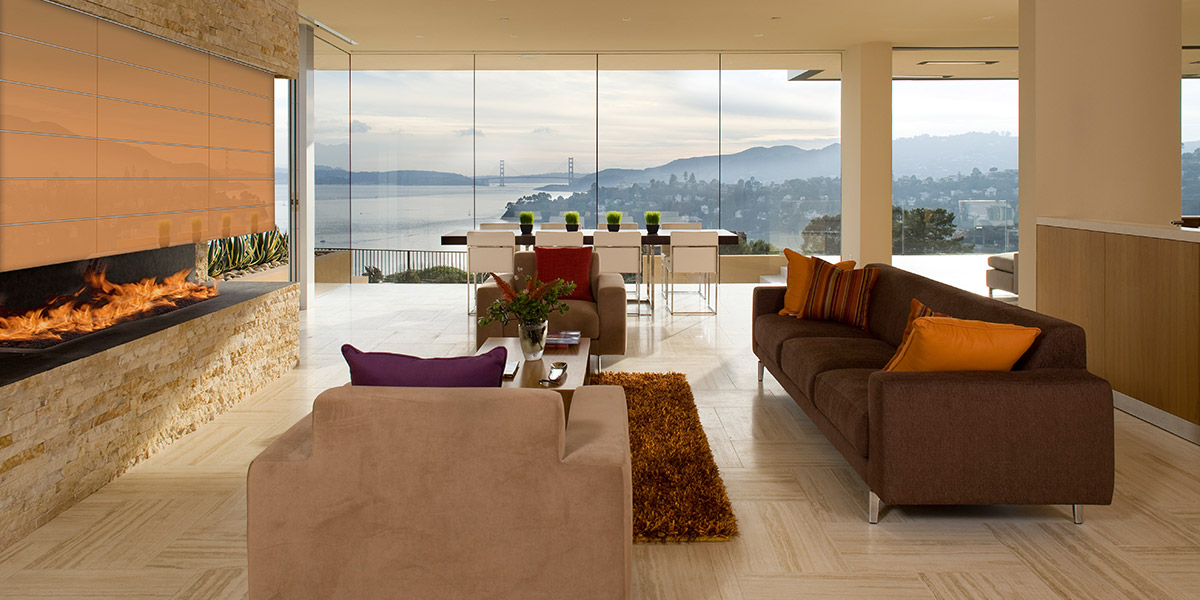 Garay Residence - Modern Living Room With Spectacular Views Of San Francisco Bay