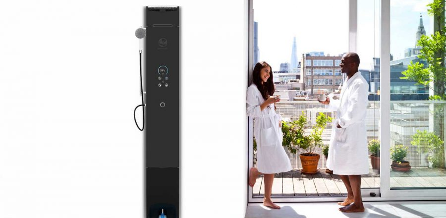 Hamwells' e-Shower is a smart shower with 90 percent water saving figures