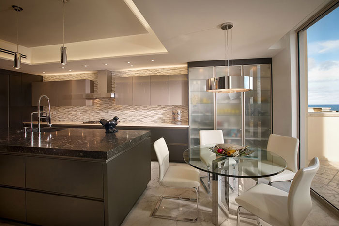 Hollywood Penthouse Modern Kitchen Design By Pepe Calderin Design