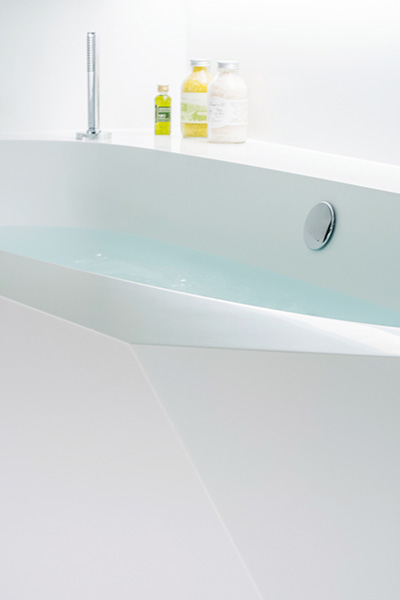 Ice bath modern white bathtub