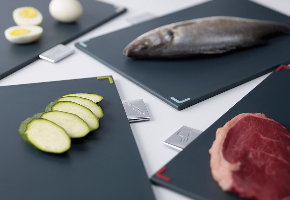 Joseph Joseph Index Range - Color-coded chopping board set for vegetables, fish, raw meat or cooked food