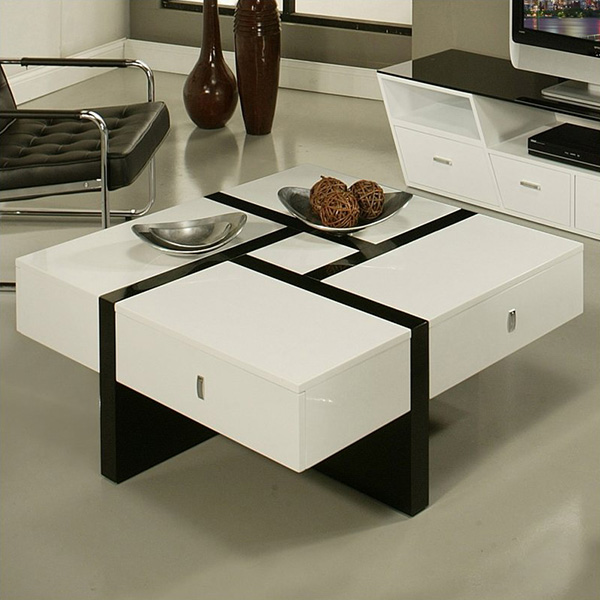 Jumeirah High Gloss Coffee Table in Black and White