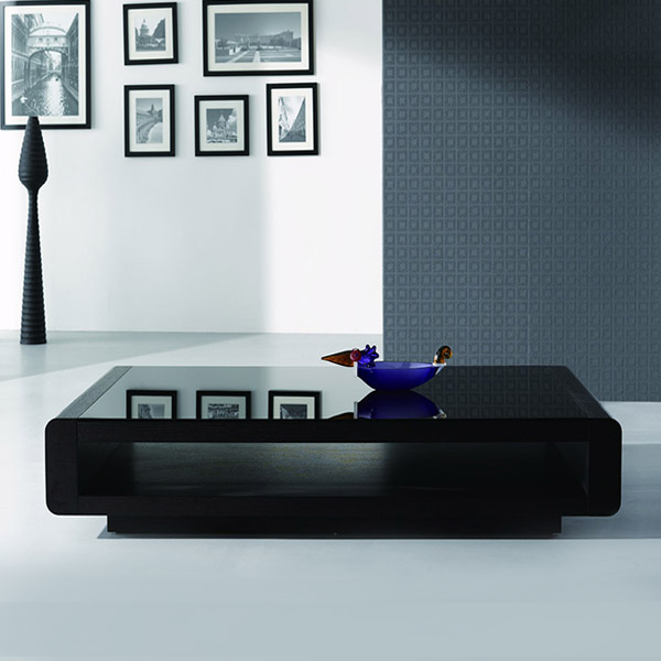 Lignite Modern Black Oak Coffee Table