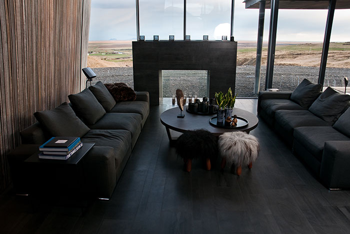 Living Room In A Modern Vacation House In Iceland