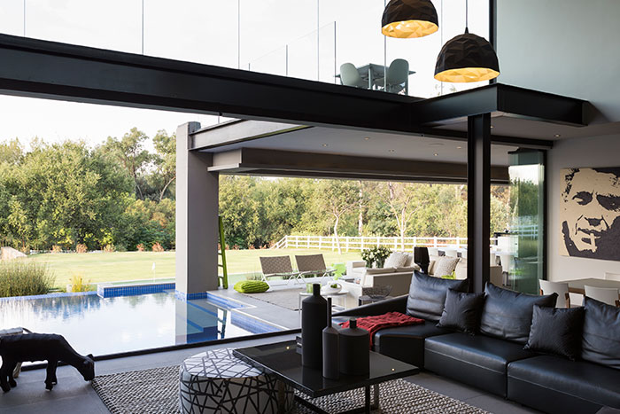Luxurious Living Room In A Contemporary Farmhouse In Blair Atholl South Africa