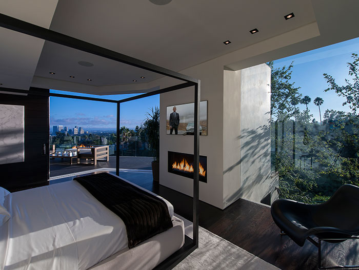 Luxurious bedroom with impressive views