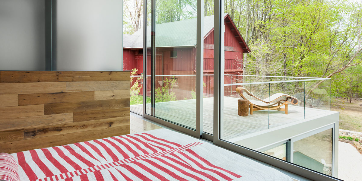 Modern Bedroom With Large Windows