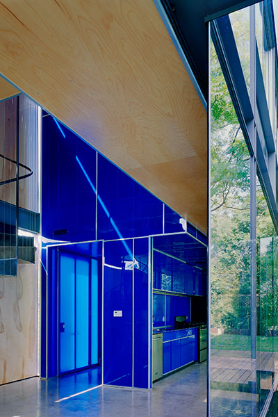 Modern Blue Kitchen Design In Austin Texas