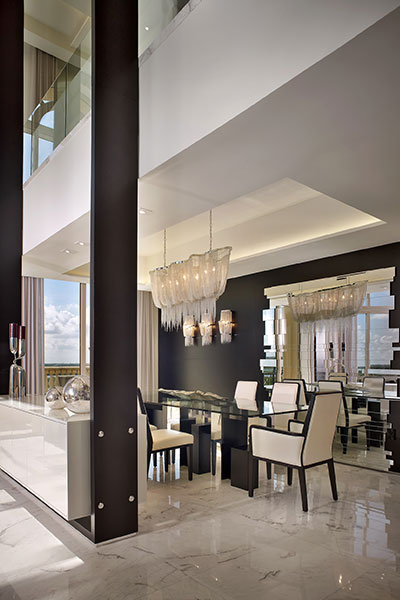 Modern Dining Room With Beautiful Glass Table