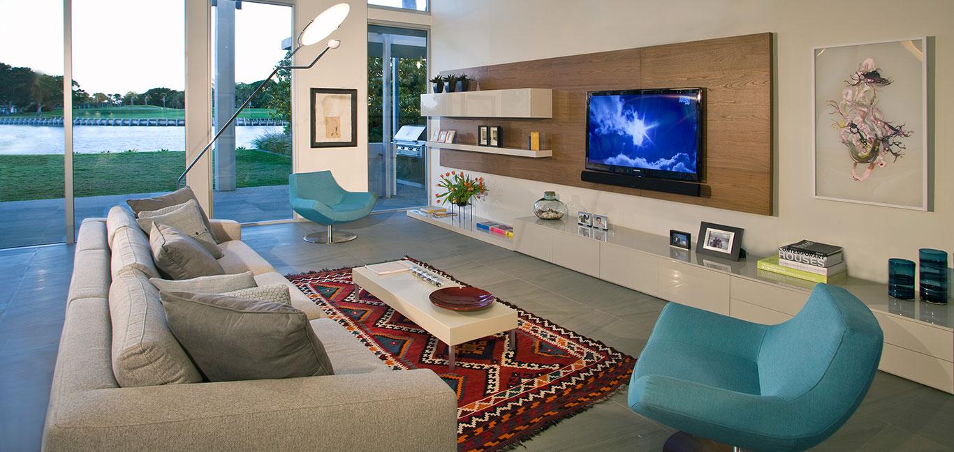Modern Family Room Florida