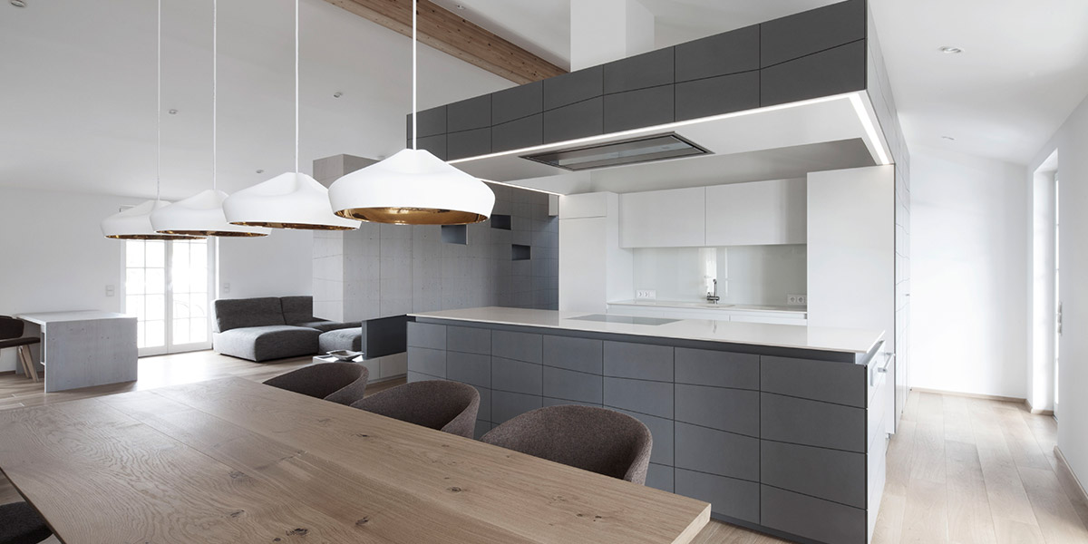 Modern Grey Kitchen In Austria