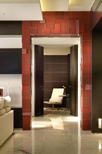 Modern Hallway In Luxurious Apartment In Florida