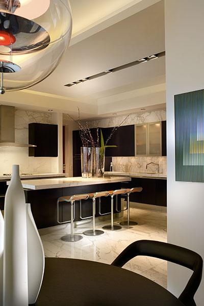 Modern Kitchen Design In Luxurious Apartment Located In Florida