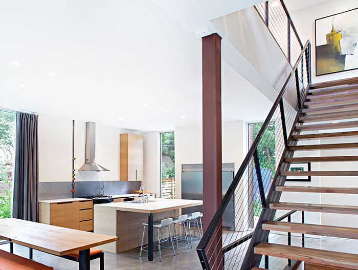 Modern Open-Space Kitchen Design By 360 Architects And Faust Construction
