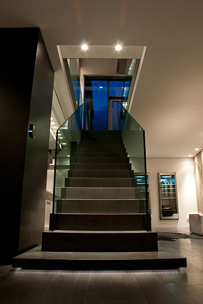 Modern Staircase Leading To The First Floor Of A Stunning House In Iceland