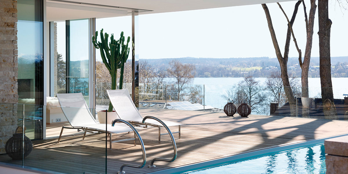 Modern Terrace With Stunning View In Germany