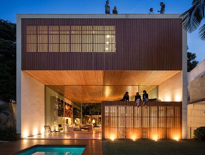 Modern house in Sao Paulo Brazil