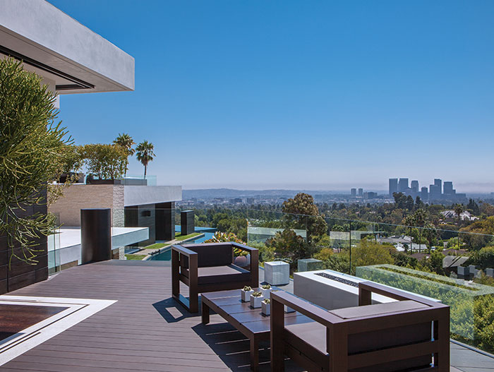 Modern house with stunning views