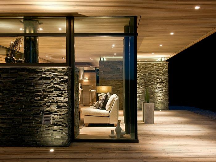Mountain Cabin With Modern Large Windows