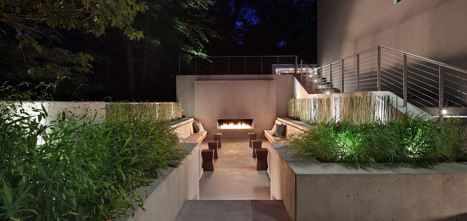 New Canaan Residence by Specht Harpman Outdoor Relaxing Place