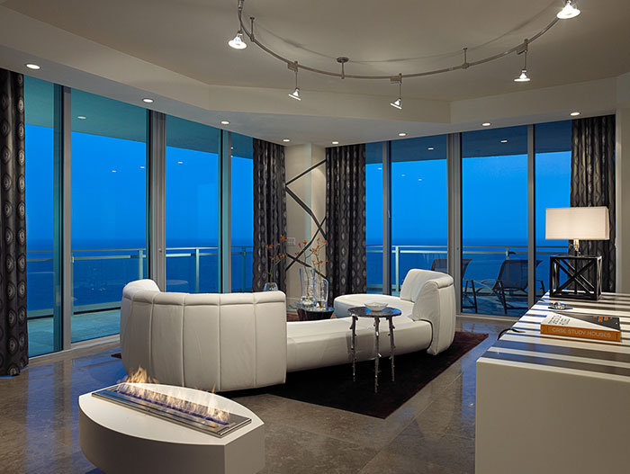 One Bal Harbor Residence Modern Living Room