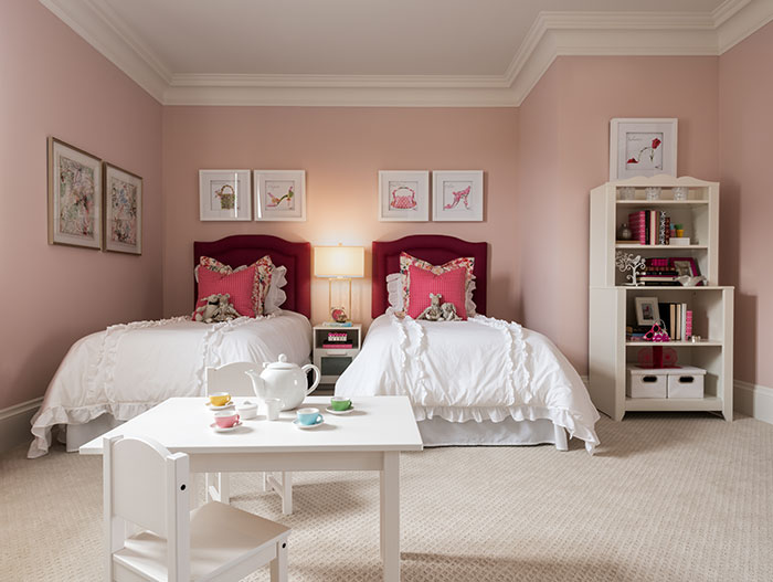 Pink Kids Room Design