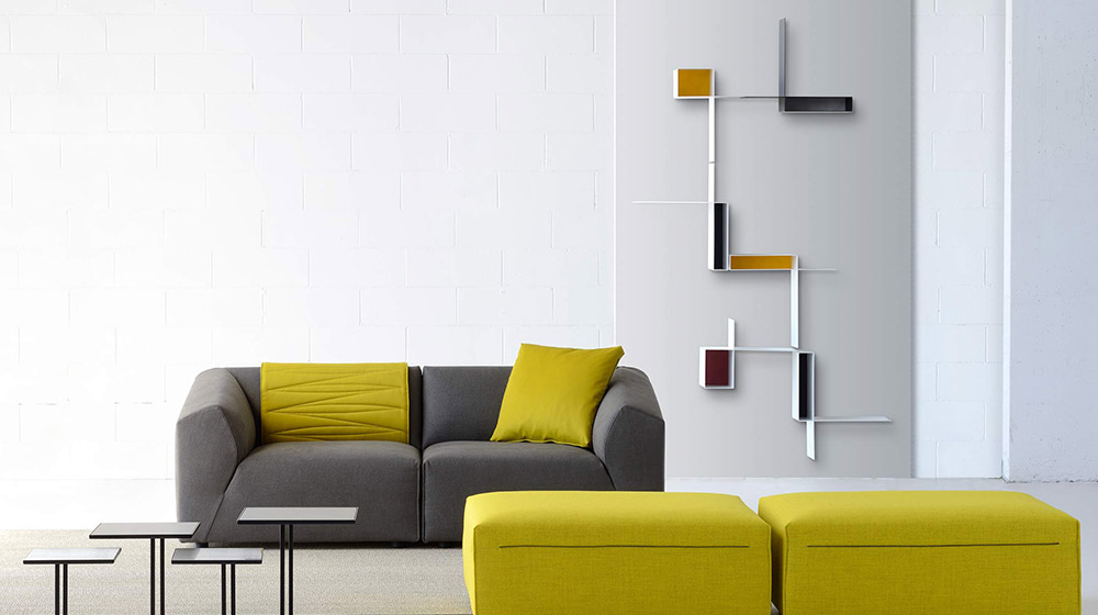 Randomissimo Sectional floating plate bookcase by MDF Italia