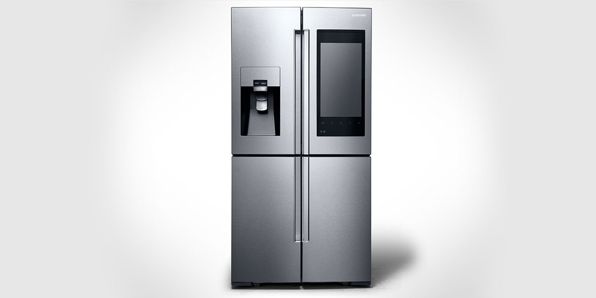 Samsung's New Family Hub Refrigerator - Smart Fridge CES 2016