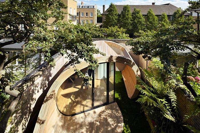 Shoffice Stunning Garden Pavilion Containing Small Office In London