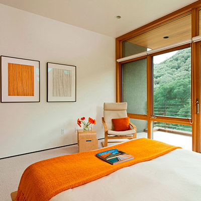 Sinbad Creek Residence Modern Orange Bedroom In California