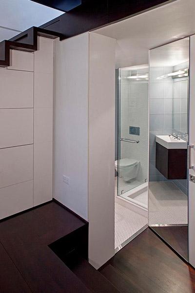 Small Bathroom Design In A Manhattan Micro Loft