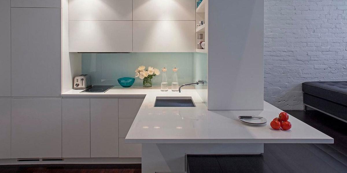 Small Kitchen In Manhattan Micro Loft By Specht Harpman Architects