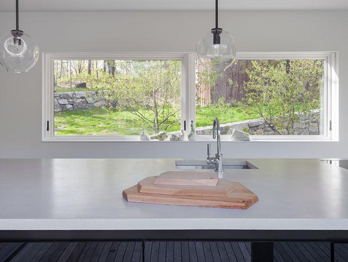 Small White Kitchen In Garrison, New York