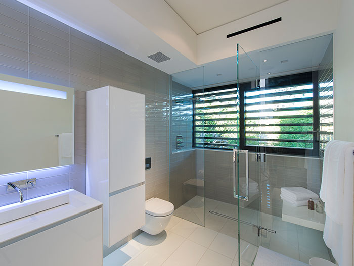 Small white bathroom design