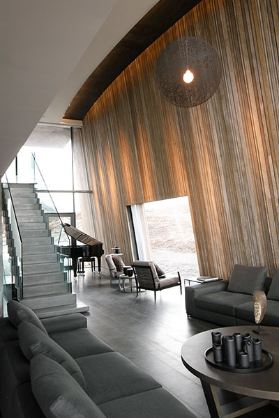 Social Area Of A Modern Scandinavian Vacation House In Iceland