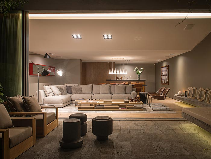 Social Area Of A Stunning Modern House In Mexico City