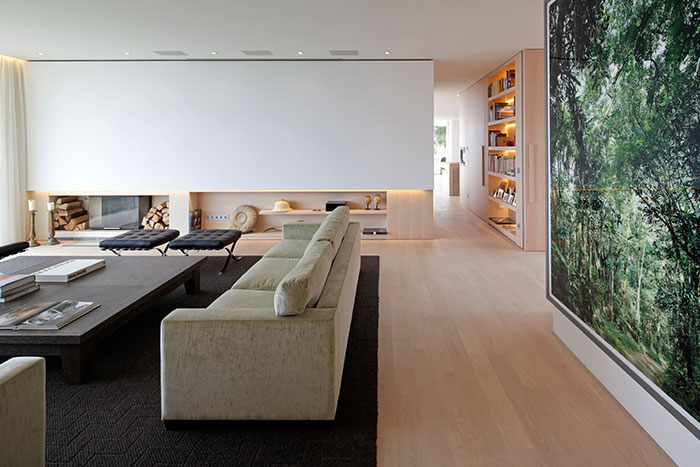 Stunning Living Room In A Modern House In Germany