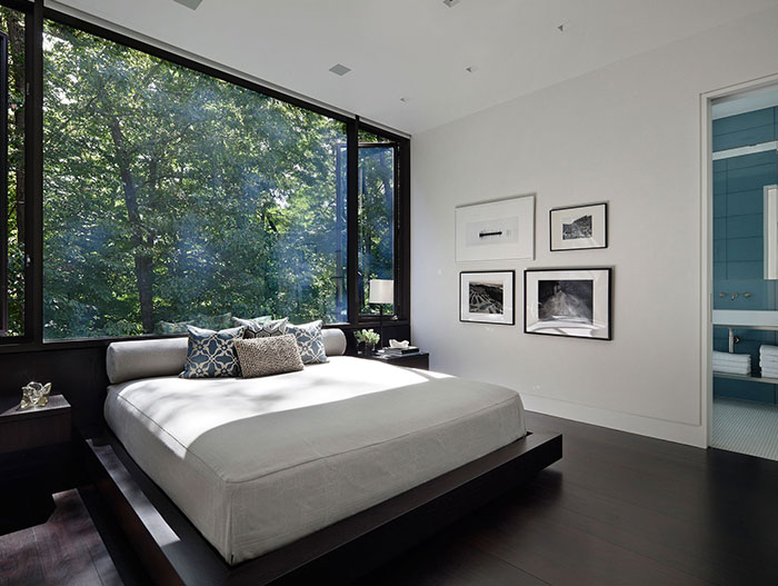 Stunning Modern Bedroom In New Canaan Connecticut