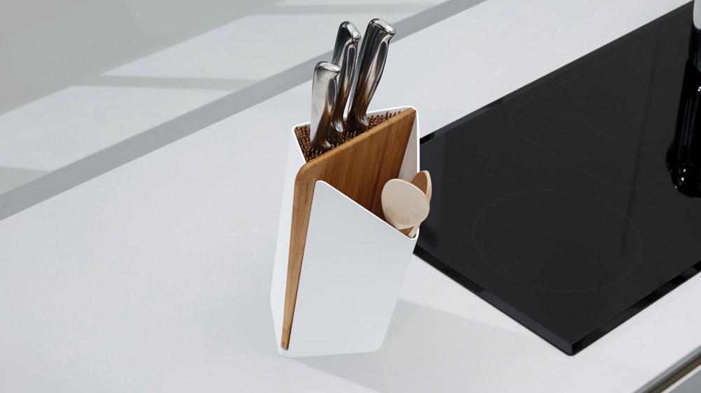 Stylish kitchen utensil holder by black and blum