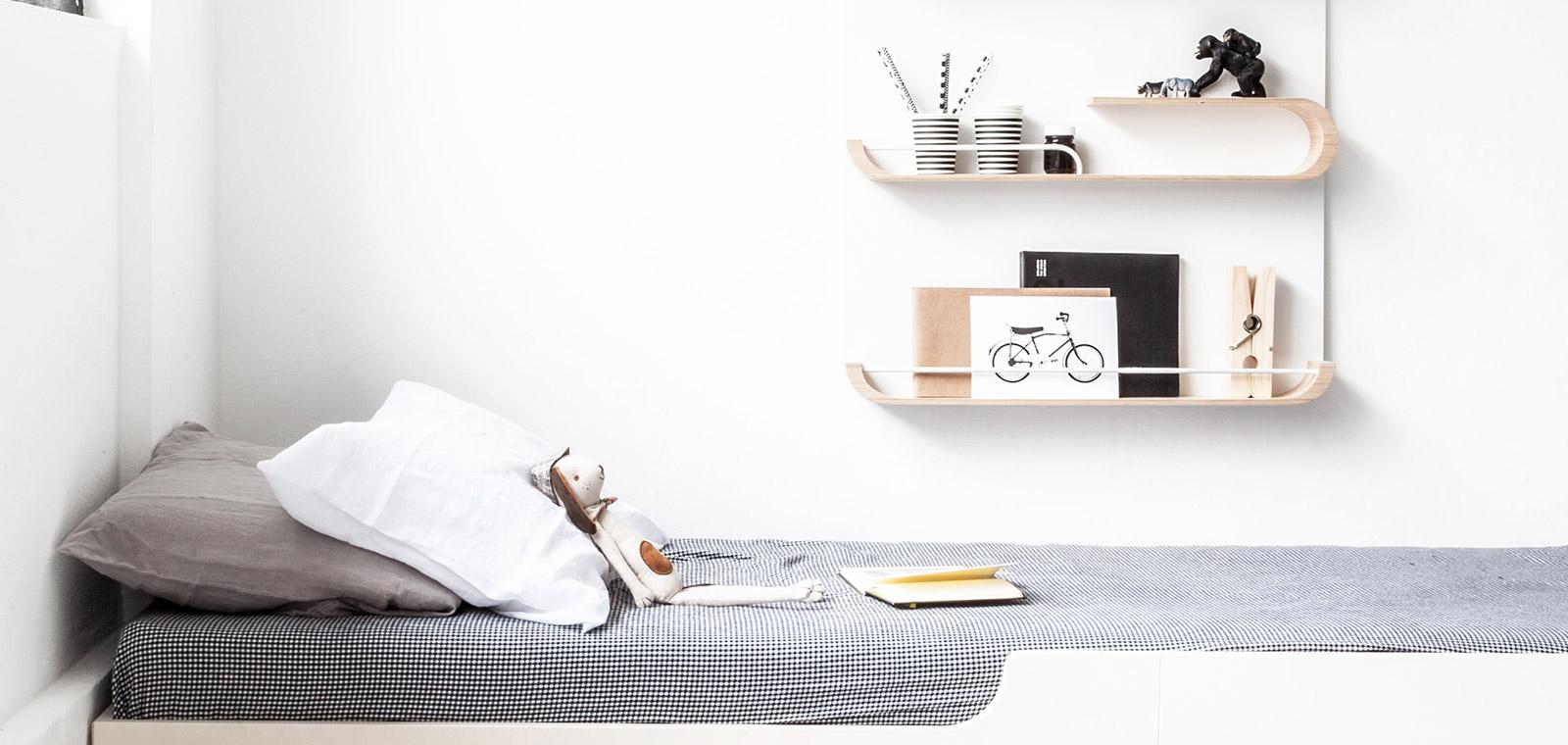 Stylish shelves for kids room