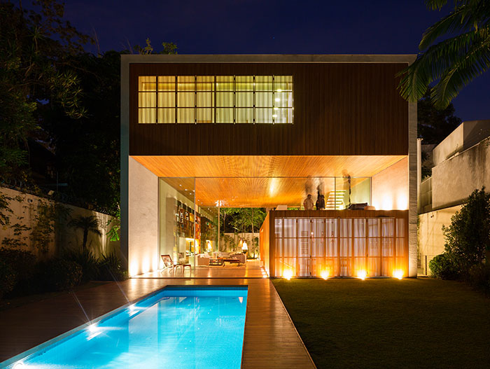 Tetris House Modern Brazilian home with amazing pool