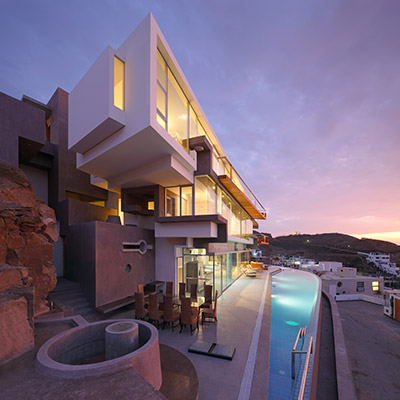Veronica beach house Peruvian contemporary architecture with gorgeous pool