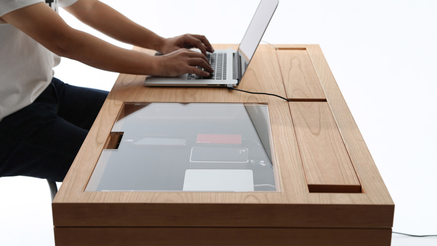 With This Modern Desk You Ll Never Miss Your Phone S