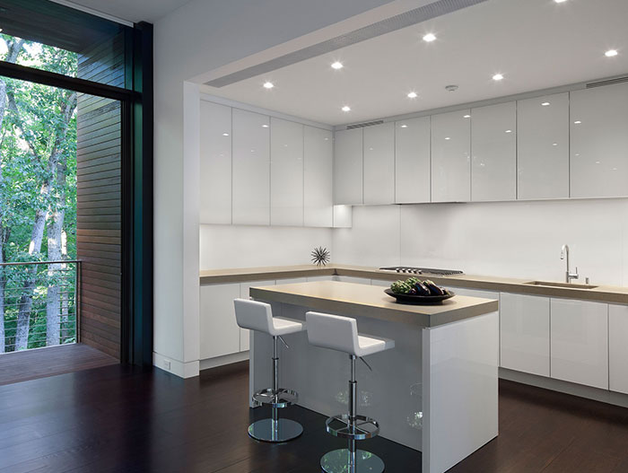 White Modern Kitchen In New Canaan Connecticut