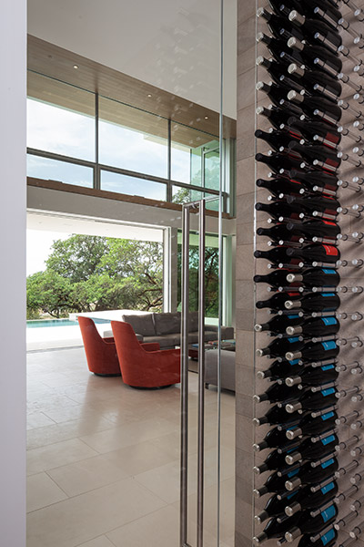 Wine Rack From A Modern Californian Home