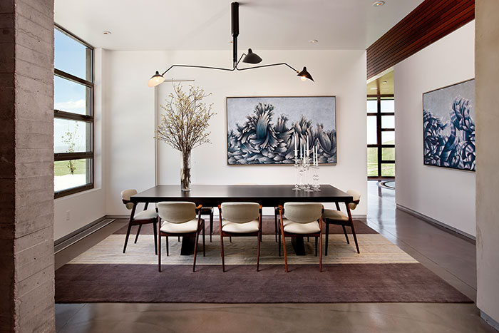 Beautiful Dining Room Design In A Modern House