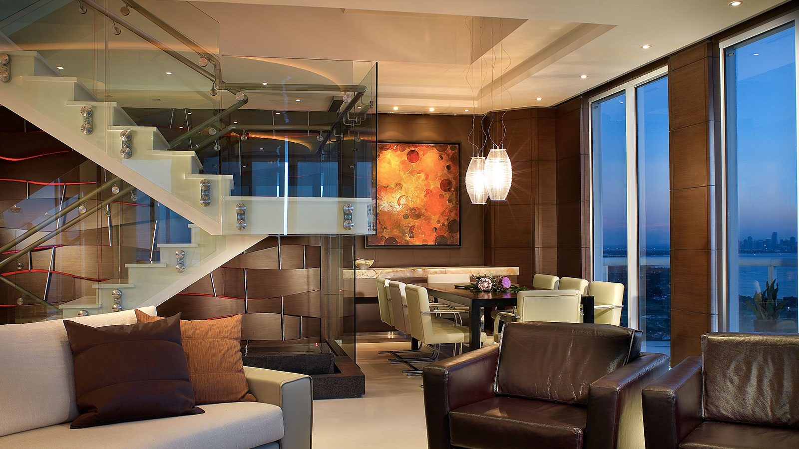 Akoya Mayor Residence Stunning Modern Penthouse In Miami Beach Florida That Feels Warm And