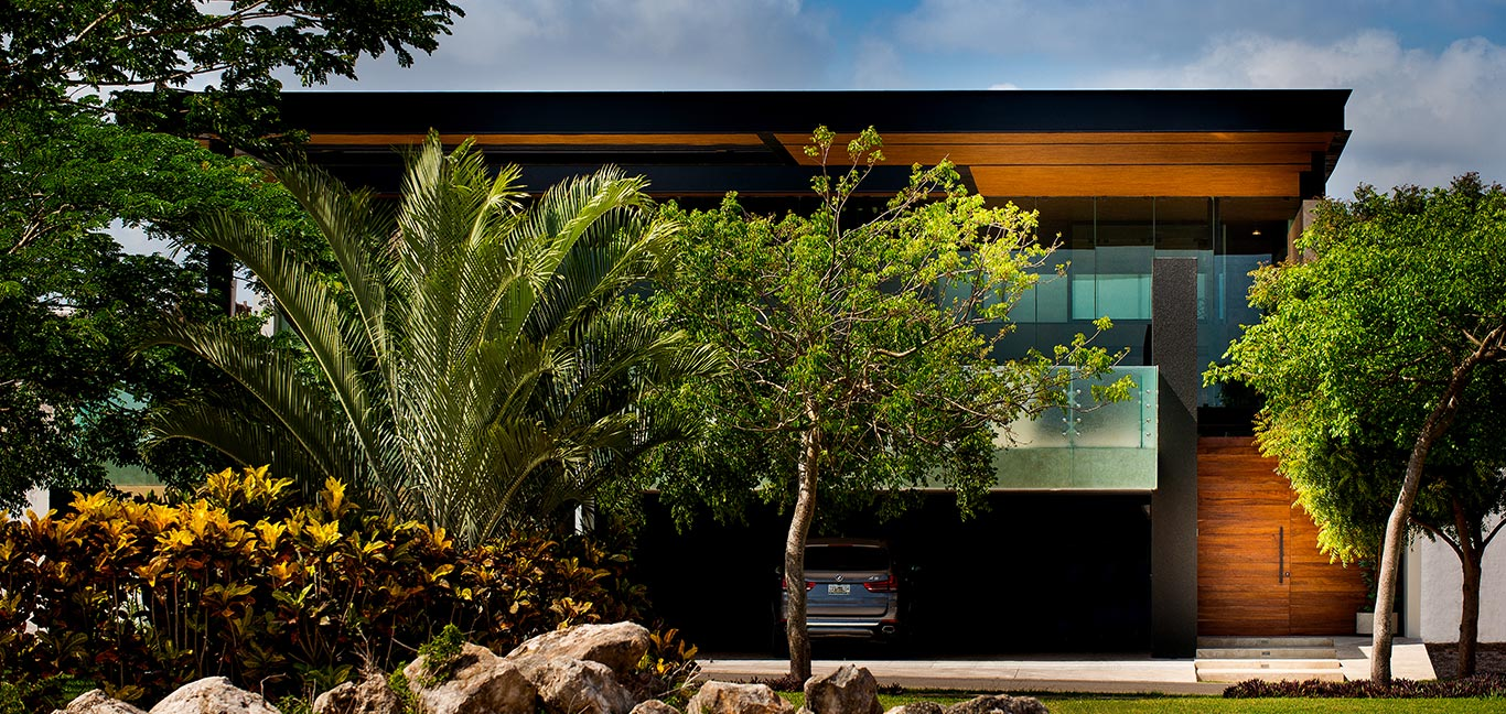 Spectacular contemporary exterior and garage of amazing house in Yucatan, Mexico by Seijo Peon Arquitectos y Asociados
