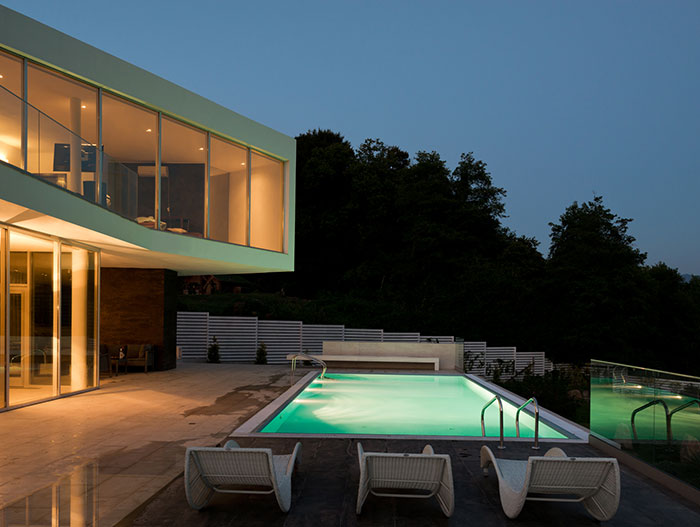 Amazing pool outside of fantastic contemporary home in Sochi, Russia